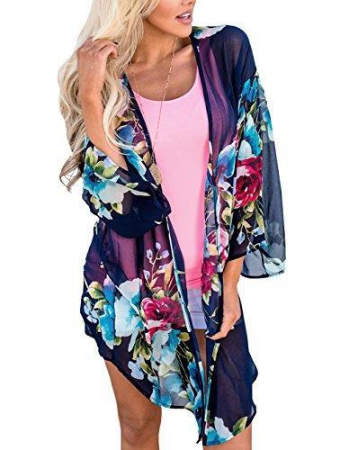 Uincloset Verano Gasa Kimono Y Wear Cover Ups De Playa Para