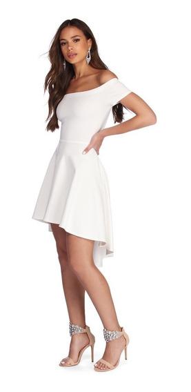 Vestido De Festa Gode Mullet Roupas Femininas Ombro A Ombro