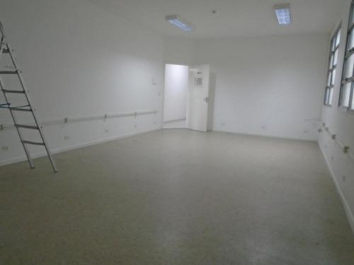 Sala Comercial Para Alugar, 38 M² Por R$ 1.200/mês - Centro - Santos/sp - Sa0124
