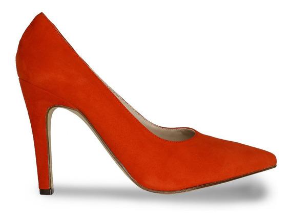 Zapatos Gamuza Stilettos Fiori Modelo 7109 Taco Mujer