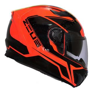 Casco Moto Certificado Integral Doble Visor Zeus 813 Naranja