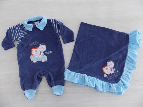 Saída Maternidade Azul Baby Gijo Imperdível Cód: 35