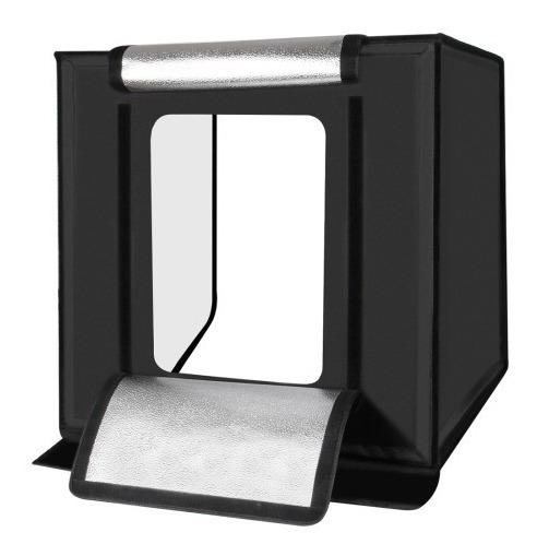 Mini Estúdio Fotográfico Portátil Iluminação De Led 60x60cm