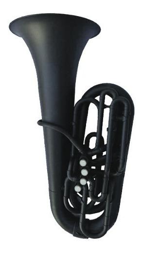 Tuba Plástica Negra En C (do) Parquer C/ Funda
