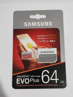 Cartão De Memória 64gb - Evo Plus 100mb/s 4k - Classe 10