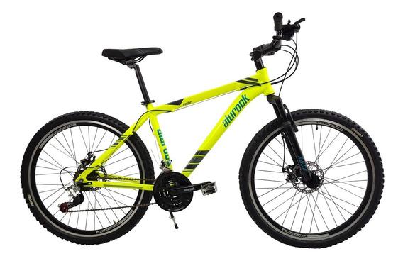 Bicicleta Montaña Alurock Kobe Freno Disco 21 Vel Alu Rod 26