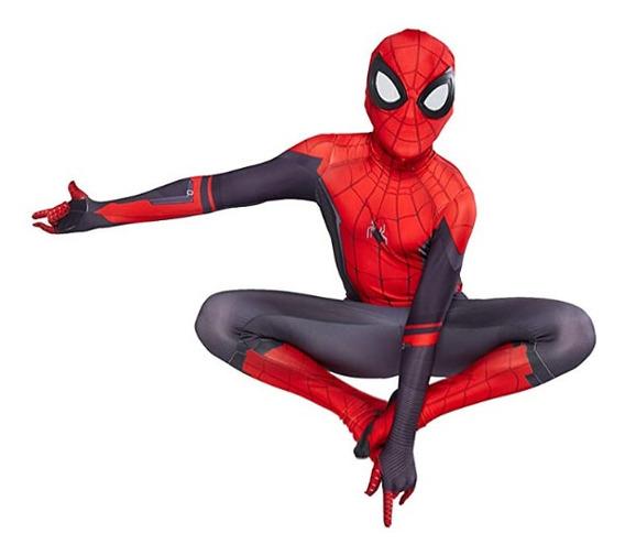 Fantasia Spiderman Homem Aranha Longe De Casa Aranha Cosplay