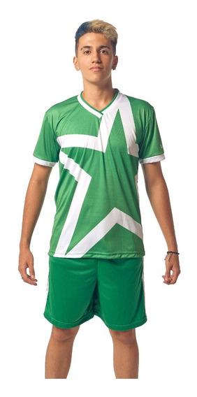 Remera Deportiva Sublimada Verde Colegial Personalizada