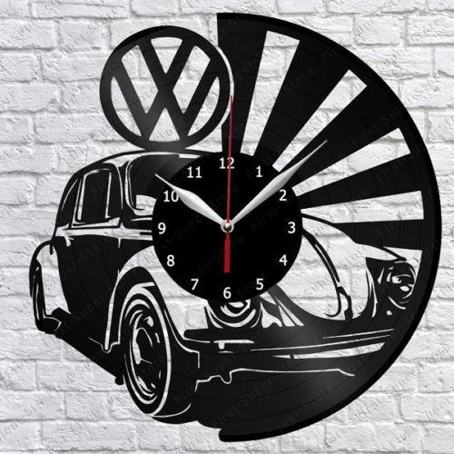 Relógio De Parede, Fusca, Vw, Carro, Retrô, Disco Vinil
