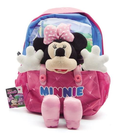 Mochila De Espalda Minnie Mickey Con Peluche 13 Pulgadas Km805 Mapleweb