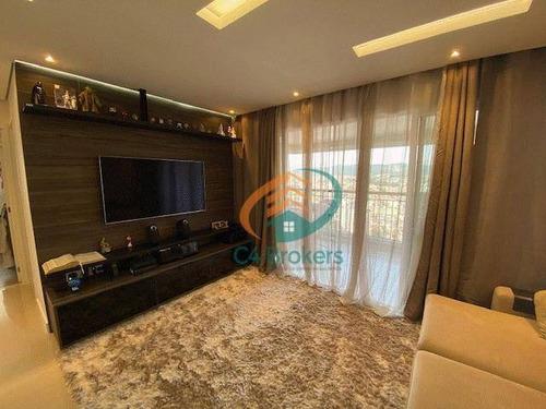 Apartamento Com 3 Dormitórios À Venda, 86 M² Por R$ 895.000,00 - Bosque Maia - Guarulhos/sp - Ap3741