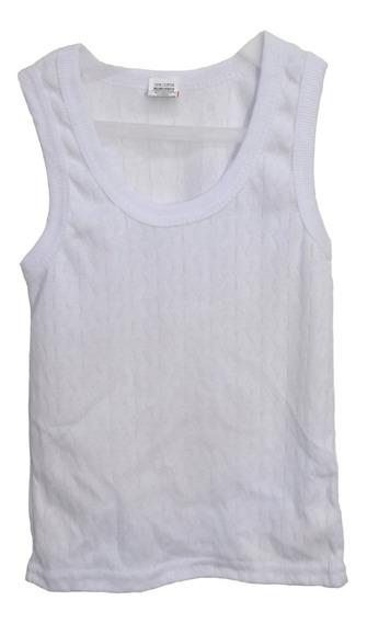 6 Piezas Camiseta Para Niño Rombo Blanca Talla 2 A 12