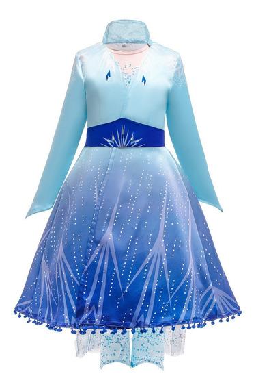Fansia Elsa 2 Frozen Capa Casaco +vestido + Calca
