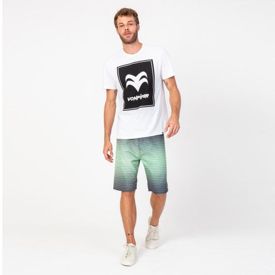 Camisa Casual Masculina T-shirt Branca Label Vonpiper