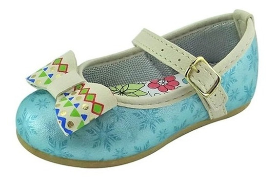 Sapato Boneca Baby Com Laço - Turquesa