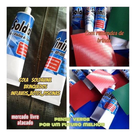 Cola Para Infláveis Bisnaga 300ml+4 Lona Kp1000-40x40+brinde