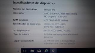 Notebook Lenovo G 475 Amd E 300 4 Gb, 500 Gb De Disco