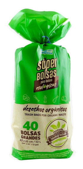 Polpusa 1rollo Basura Ecologicas Ad 62x85cm Color(40 Bolsas)