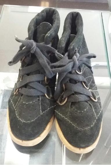 Botas Con Cordones Negras Gamuzadas Rapsodia 38