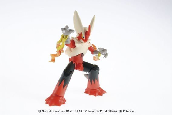 Figura Original De Mega Blaziken Armable Plamo Bandai