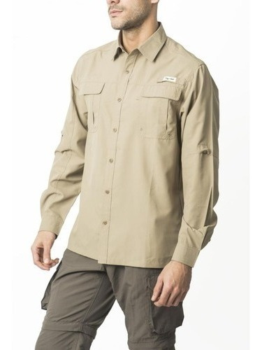 Camisa Hombre Outdoor Oferta -35% Pesca/ Upf Uv 50/ Quickdry