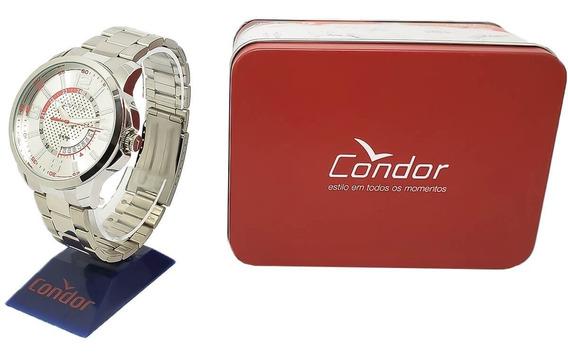 Relógio Grande Masculino Condor Co2115vc/3k Prateado