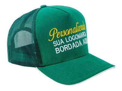 Bone Personalizado Premium Trucker Bordado Kit Com 30 Peças