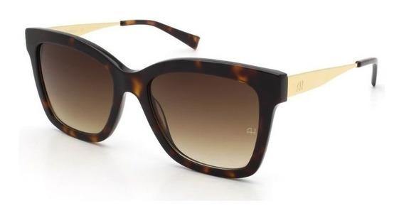 Oculos Sol Ana Hickmann Ah9258 G21 Tartaruga Marrom Degradê
