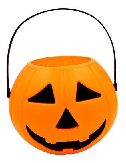 Calabaza Halloween Caramelera Golosinas Plastica Cotillon