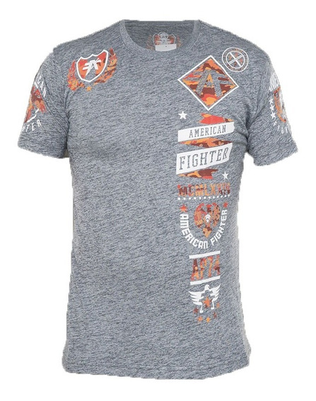 Remera American Fighter By Affliction Lander Gris