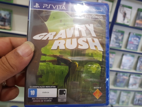 Gravity Rush Novo Legendas Br Lacrado Psvita Mídia Física