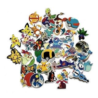 Set 45 Stickers Calcomanias Pokemon Pikachu Envio Gratis
