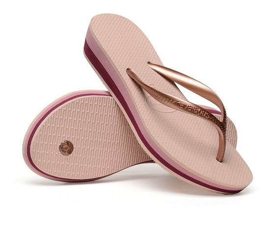 Tamanco Havaianas High Light Il Anabela 4cm Original C/- Nfe
