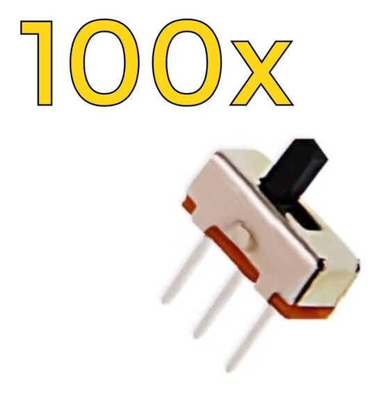 100 X Mini Deslizante Chaves Liga Desliga Switch 1p2t Spdt