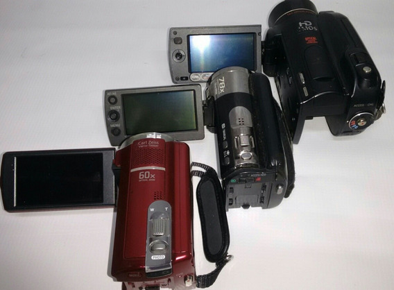 Lote 3 Filmadoras Sony Panasonic Canon
