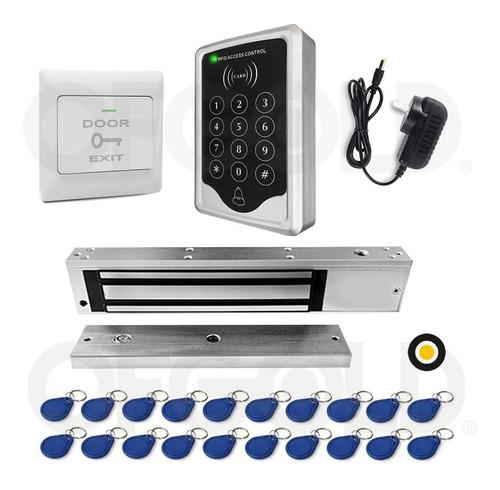 Kit Control De Acceso Lector Cerradura Mag 350lb Pulsad20tag