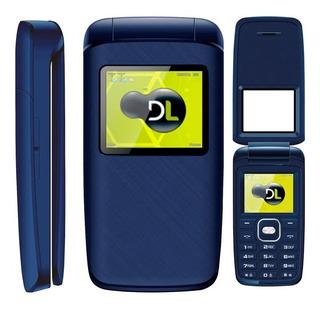 Celular Flip Dl Yc335 2chip Câmera Fm Bateria Longa Duração