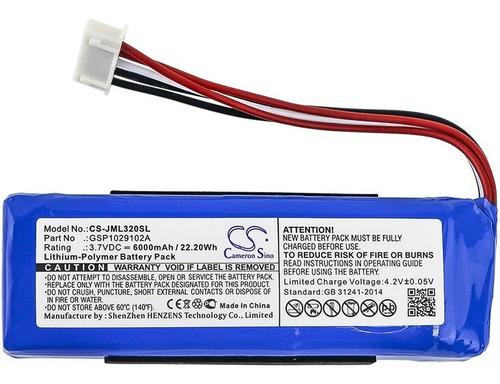 Batería Jml320sl P/ Parlante Portatil Jbl Charge 3 6000mah