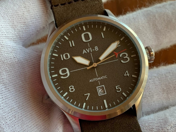 Relógio Avi-8 Flyboy Brown Automatic Av-4021-02