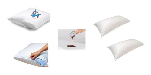 Forro Protector Plástico Antifluidos Almohada De Cierre (x2)