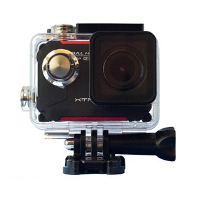 Câmera Evo Xtrax Wi-fi Preto/vermelho Display Integrado