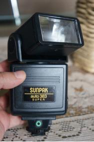 Impecável! Flash Sunpak Auto 383 - Nikon,canon,sony,pentax