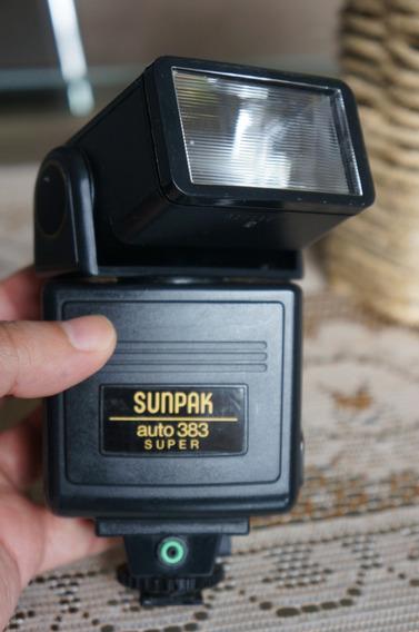 R$199! Impecável! Flash Sunpak 383 - Nikon,canon,sony,pentax