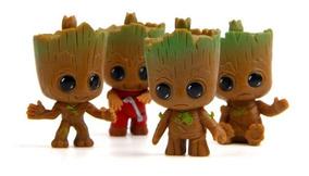 Brinquedo Groot Guardiões Da Galaxia Kit Com 4 Groot 5 Cm