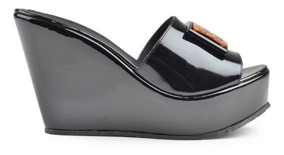 Zuecos De Mujer Sandalas De Charol Cozumel - Ferraro