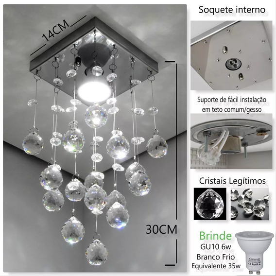 Lustre De Cristal Original K9 Com Lâmpada - Modelo Desconexo