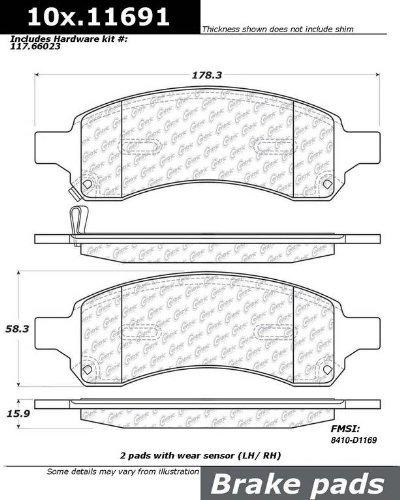 StopTech 301.11691 Premium Brake Pad