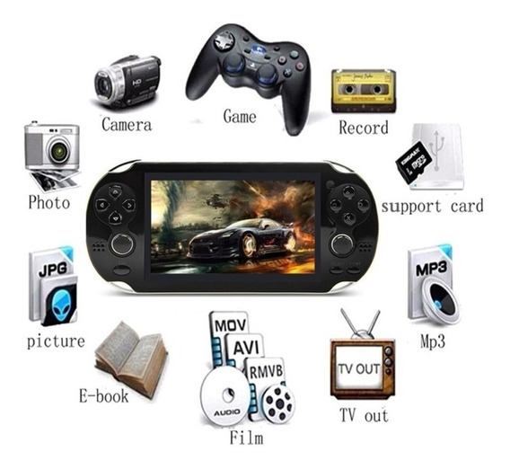 Mini Tipo Psp Vita Vídeo Game Portátil Retrô Arcade