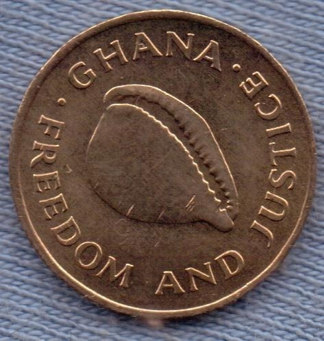 Imagen 1 de 3 de Ghana 1 Cedi 1984 * Caracol Marino *