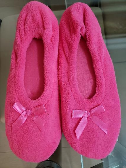 Pantuflas De Dama. Talla 7-8. Color Rosada Usa
